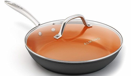 Almond Copper Non-Stick Ceramic Frying Pan