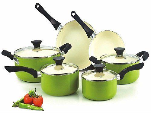 Cook N Home NC-00358 10-Pc Ceramic Cookware Set