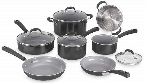 Cuisinart 54C-11BK Ceramica XT Ceramic Cookware Set