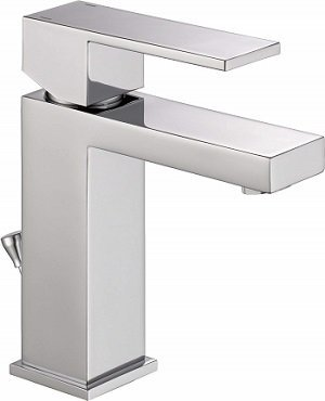 Delta Modern Single Handle Bathroom Faucet with Drain Assembly