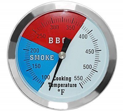DozyAnt Large Face Stainless Steel Smoker Thermometer