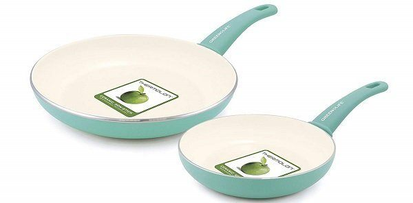 GreenLife Set of 2 Soft-Grip Ceramic Frying Pans