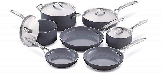 GreenPan Paris 11-Pc Non-Stick Ceramic Cookware Set