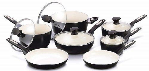 GreenPan Rio 12-Pc Non-Stick Ceramic Cookware Set