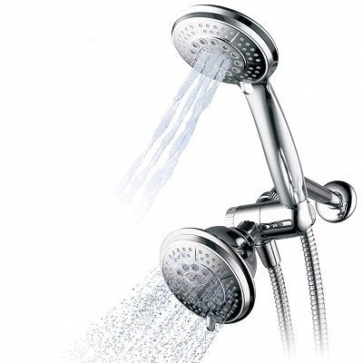 Hydroluxe Full Chrome Ultra-Luxury Handheld Shower Head