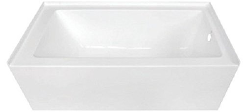 Kingston Brass VTDE603122 Alcove Acrylic Bathtub