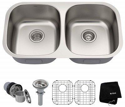 Kraus KBU22 Double Bowl Undermount Kitchen Sink