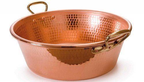 Mauviel M'Passion 11-Quart Jam-Making Copper Pan