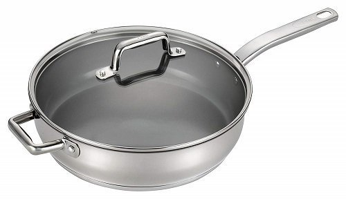 T-fal C71882 Stainless Steel Ceramic Frying Pan