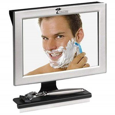 ToiletTree Fogless Bathroom Shower Mirror with Squeegee