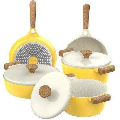 Vremi 8-Piece Non-Stick Ceramic Cookware Set