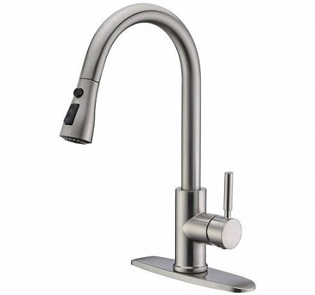 WeWe Single Handle Pull-Out Kitchen Faucet