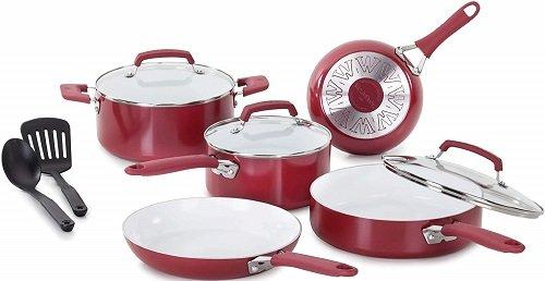 WearEver C943SA 10-Pc Non-Stick Ceramic Cookware Set