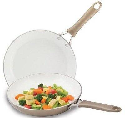 Wearever C944S2 2-Piece Non-Stick Ceramic Frying Pan Set