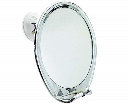 JiBen Fogless Shower Mirror with Power Locking Suction Cup