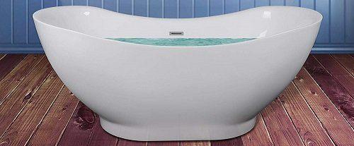 AKDY Oval Soaking Freestanding Tub