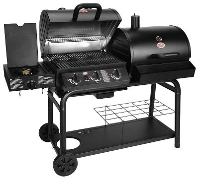 Char-Griller 5050 Gas and Charcoal Smoker Grill Combo