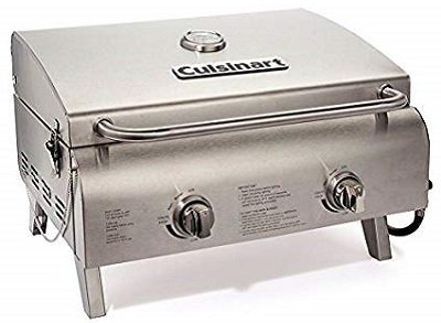 Cuisinart CGG-306 Chef's Style Tabletop 2 Burner Gas Grill