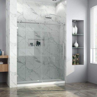 Elegant Frameless Sliding Shower Door