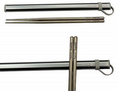 FinessCity Titanium Chopsticks with Aluminium Case