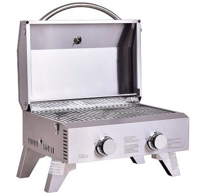 Giantex Tabletop 2 Burner Propane Gas Grill