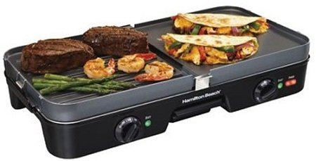 Hamilton Beach 3-In-1 Electric Griddle & Grill