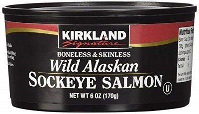 Kirkland Signature Wild Alaskan Canned Salmon