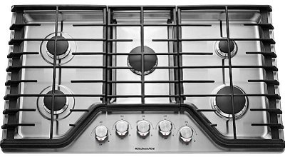 Kitchenaid KCGS350ESS 30-Inch 5-Burner Gas Cooktop