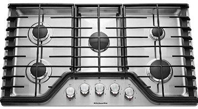 Kitchenaid KCGS350ESS 30-Inch 5-Burner Gas Cooktop