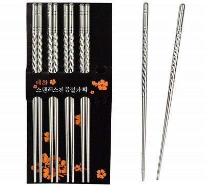 Rbenxia Metal Steel Chopsticks