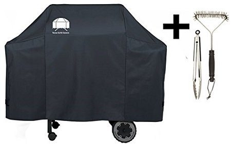 Texas Premium Grill Cover with Grill Brush and BBQ Tongs