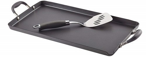 Anolon Advanced Hard-Anodized Griddle with Warming Tray