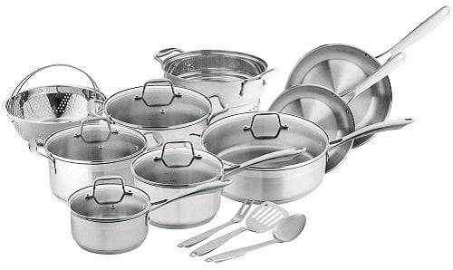 Chef's Star Stainless Steel Induction Cookware Set