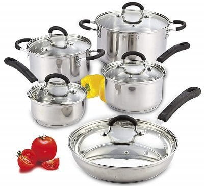 Cook N Home Stainless Steel Induction Cookware Set