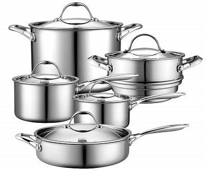 Cooks Standard Stainless Steel Induction Cookware Set