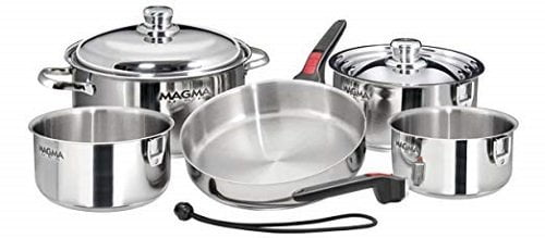 Magma 10-Piece Nesting Stainless Steel Induction Cookware