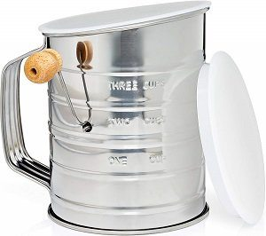 Natizo Lid and Bottom Cover Flour Sifter