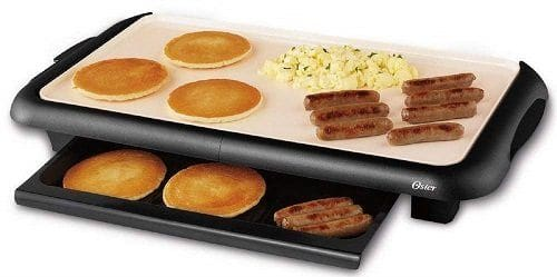 Oster CKSTGRFM18W-TECO Pancake Griddle with Warming Tray