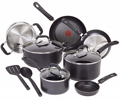 T-fal C515SC Non-Stick Induction Cookware Set