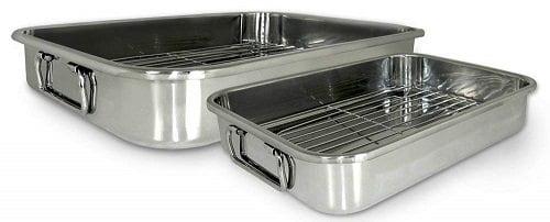 Cook Pro 561 4-Piece Roasting Lasagna Pan Set