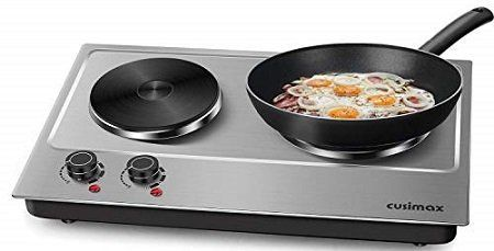 Cusimax CMHP-C180 Stainless Double Hot Plate