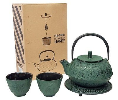 Happy Sales HSCT-BMG04 Cast Iron Teapot