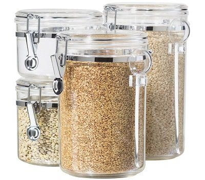 Oggi 4-Piece Acrylic Airtight Container Set