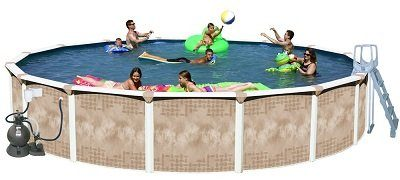 Splash Pools Round Deluxe Above Ground Pool Package