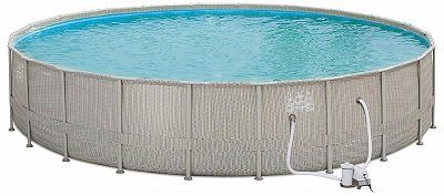 Summer Waves Elite Wicker Above Ground Pool