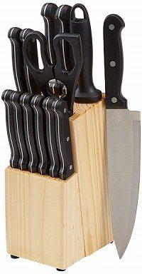 AmazonBasics 14-Piece High-Carbon Knife Set