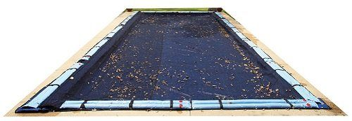 Blue Wave Rectangular Leaf Net InGround Pool Cover