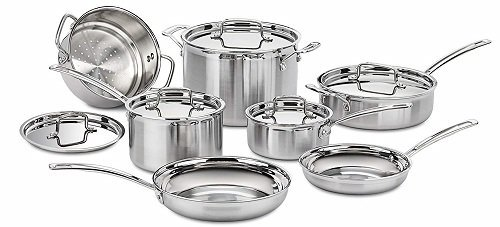 Cuisinart MCP-12N 12-Piece Stainless Gas Stove Cookware