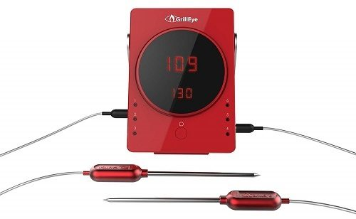 GrillEye GE0001 6-Port Bluetooth Meat Thermometer