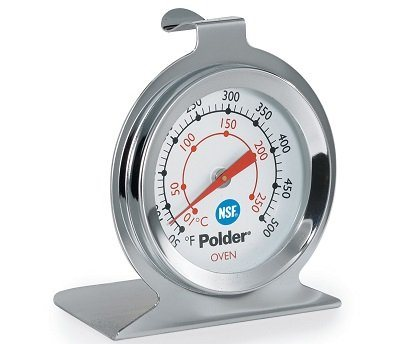 Polder THM-550N Stainless Steel Oven Thermometer